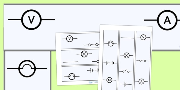 Electricity Circuit Display Borders - Electric, circuit, worksheet, safety, safe, display borders, border, display, power, electricity, battery