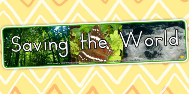 Saving the World Photo Display Banner - displays, photos