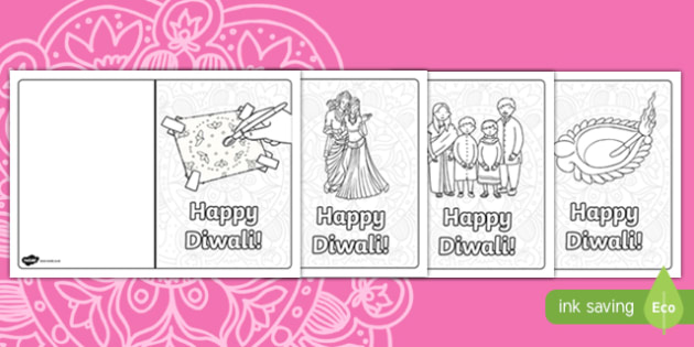 Happy Diwali Card Template