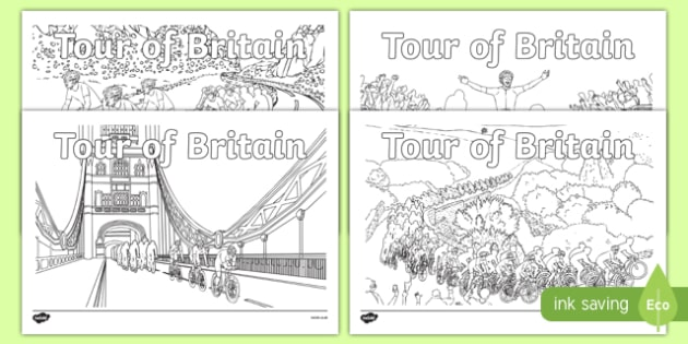 Tour Of Britain Coloring Pages