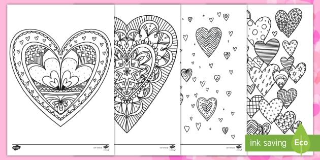 Herzen Ausmalbilder Valentin Liebe Geschenke Herz