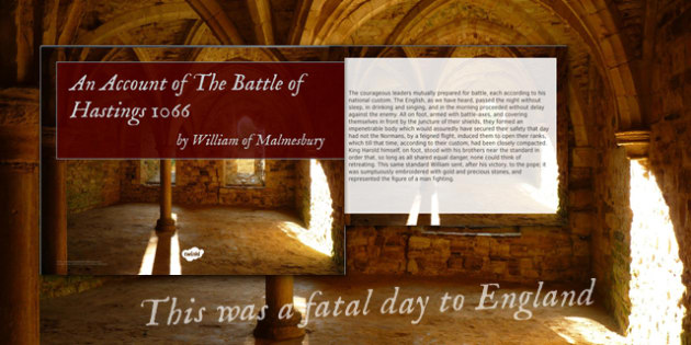 an account of the battle of hastings 1066 by william of