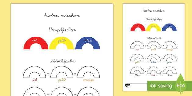 Farben mischen Aktivität - Farben mischen Aktivität, Farben