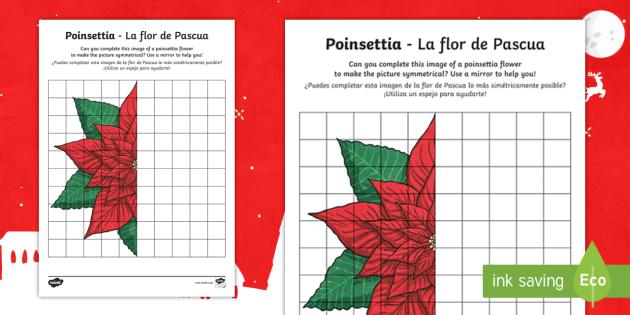new ks2 poinsettia worksheet activity sheet english spanish. Black Bedroom Furniture Sets. Home Design Ideas