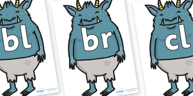 Initial Letter Blends on Trolls  - Initial Letters, initial letter, letter blend, letter blends, consonant, consonants, digraph, trigraph, literacy, alphabet, letters, foundation stage literacy