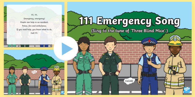 New Zealand 111 Emergency Song PowerPoint - New Zealand Natural Disasters, earthquake, tsunami, volcano, monsoon, hurricane, flood, tornado, pol
