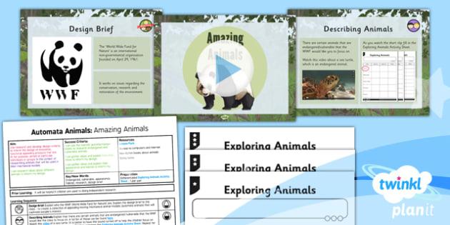 Design and Technology: Automata Animals: Amazing Animals UKS2 Lesson Pack 1