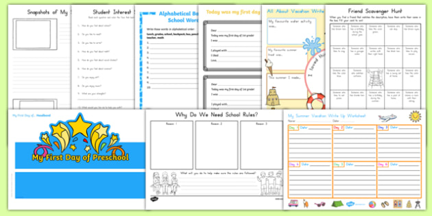 First Day Back Activity Pack