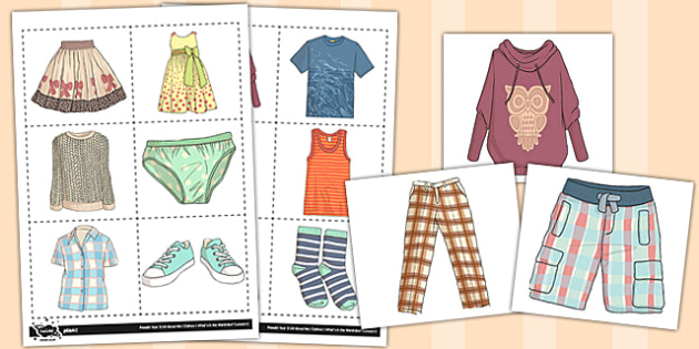 French Clothes 1 Picture Flashcards - french, clothes, flashcards