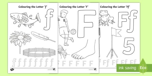 Precursive Letter F Coloring Pages (teacher Made)