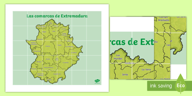Mapa De Extremadura Comarcas.Tapiz De Bee Bot Las Comarcas De Extremadura Mapas