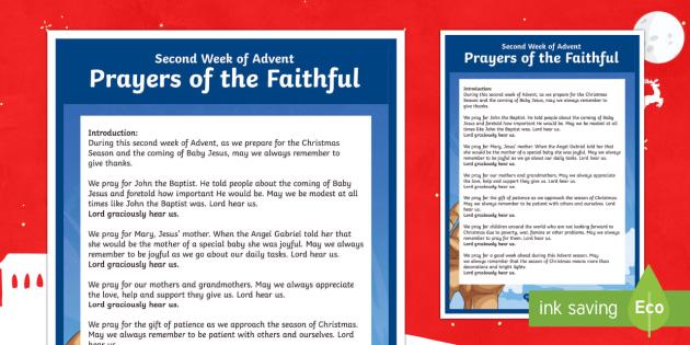 Christmas Prayers of the Faithful Print-Out - prayers of the faithful, Catholic, ROI, Ireland, Christmas, assembly, prayer service, religion,Irish