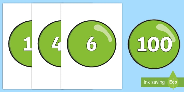 Numbers 0-100 on Bubbles - 0-100, foundation stage numeracy, Number recognition, Number flashcards, counting, number frieze, Display numbers, number posters
