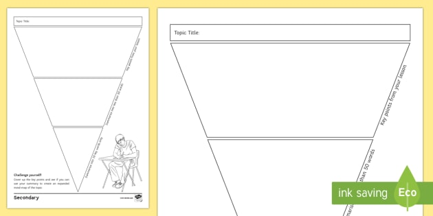 Blank Revision Triangle Worksheet / Worksheet - Revision, summarise ...