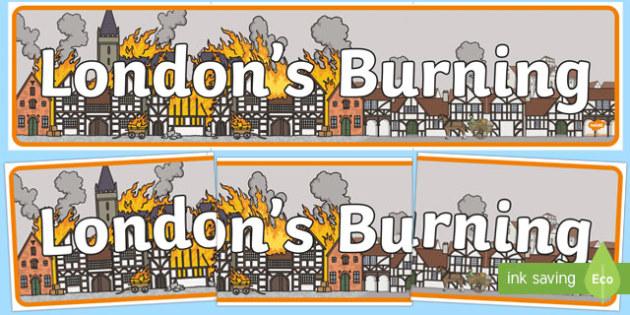 London's Burning Display Banner