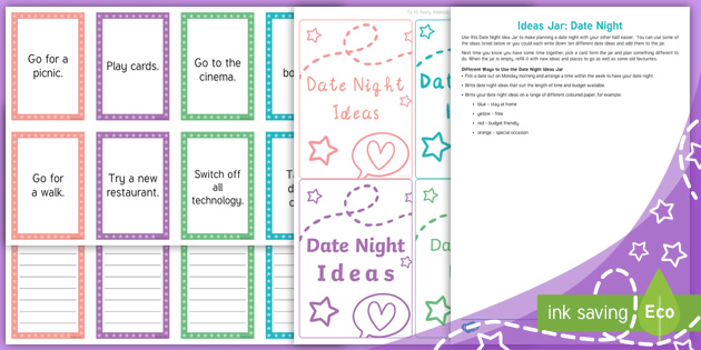 Ideas Jar Date Night Teacher Made