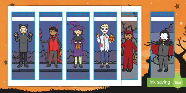 Halloween Themed Bookmarks