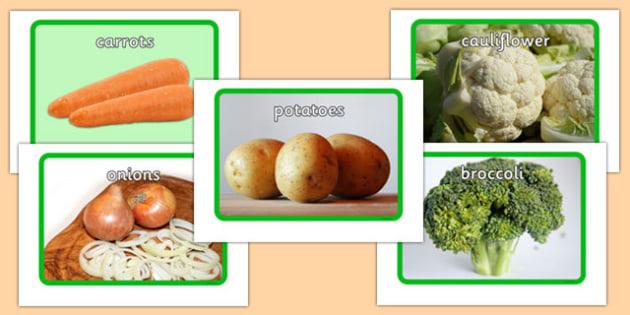Vegetable Display Posters - vegetable, flashcards, flash cards, food, eal, activit, display, postre,
