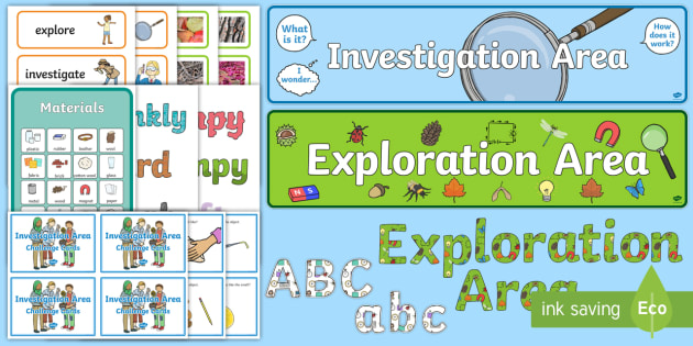 EYFS Investigation Area Classroom Set Up Pack - classroom, set up