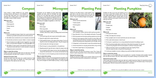 Gardening Club Summer 1 Activity Pack
