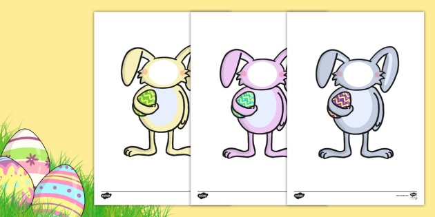 Editable Easter Bunny Self-Registration Photo Frames - self registration, self-registration, editable, editable labels, easter bunny, easter rabbit, editable easter bunny, self reg photo frames, easter bunny self reg, editable self registration label