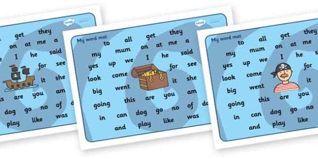 Pirate Themed Word Mats KS2 - pirates, english, writing, write