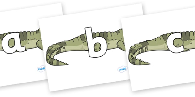 Phoneme Set on Crocodiles - Phoneme set, phonemes, phoneme, Letters and Sounds, DfES, display, Phase 1, Phase 2, Phase 3, Phase 5, Foundation, Literacy