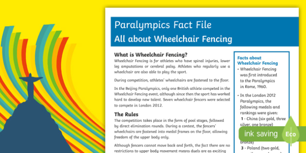All About Wheelchair Fencing  Rio Paralympics 2016 Fact File