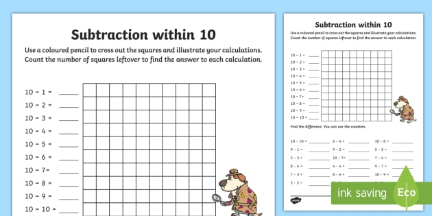 subtraction within  worksheet  worksheet  ni ks numeracy  subtraction within  worksheet  worksheet  ni ks numeracy subtraction  within  visual