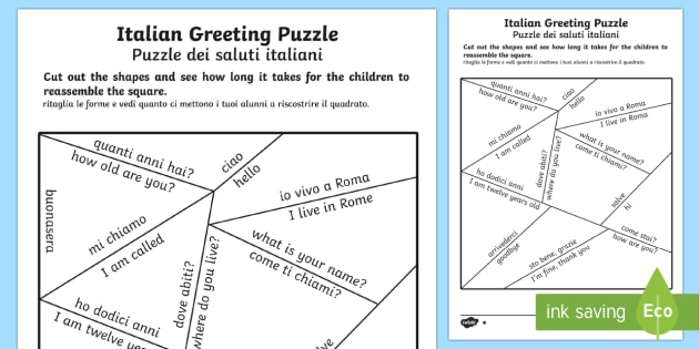 Italian greetings puzzle englishitalian french greetings italian greetings puzzle englishitalian french greetings puzzle france languages eal m4hsunfo