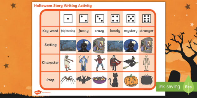 story writing ideas activity halloween story writing ideas activity