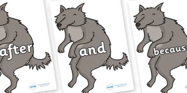 Connectives on Wolf - Connectives, VCOP, connective resources, connectives display words, connective displays