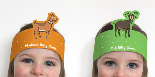 The Three Billy Goats Gruff Role Play Headbands - story, roleplay