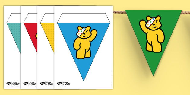 BBC Children in Need Pudsey Display Bunting