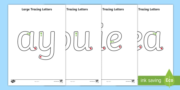Large Phase 5 Tracing Letters - Tracing Letters, Phase 5, Phase