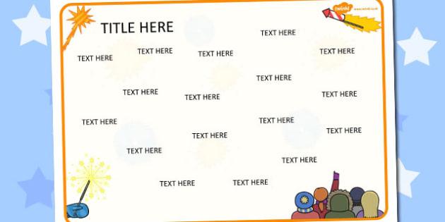 Bonfire Bonfire Night Themed Editable Word Mat - literacy, words
