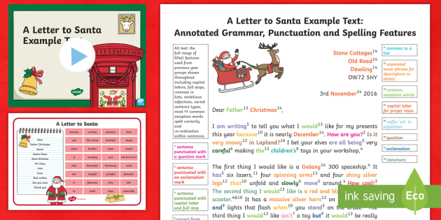 ks1 a letter to santa example model text resource pack father