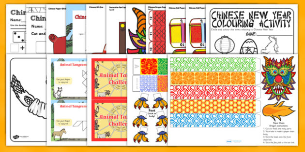 Teaching Assistant Chinese New Year Activity Pack - activity pack