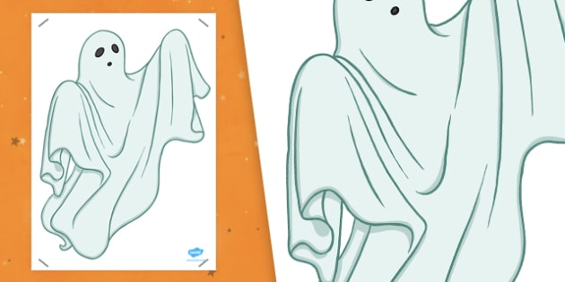 A2 Ghost - halloween, game, fun and games, display, KS1, KS2, Key stage 2, filler