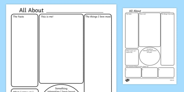 all about me poster template - all about me, all about me, Powerpoint templates