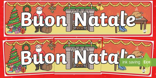 Striscione Buon Natale - Buon Natale, Natale, Striscione, classe, feste, natalizion, buone feste, babbo natale, camino, regal