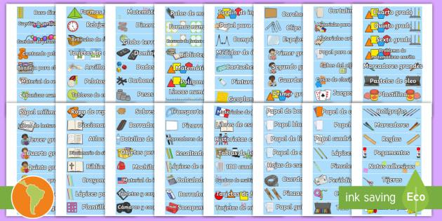 Etiquetas objetos del sal n de clases objetos reglas for 10 reglas del salon de clases en ingles
