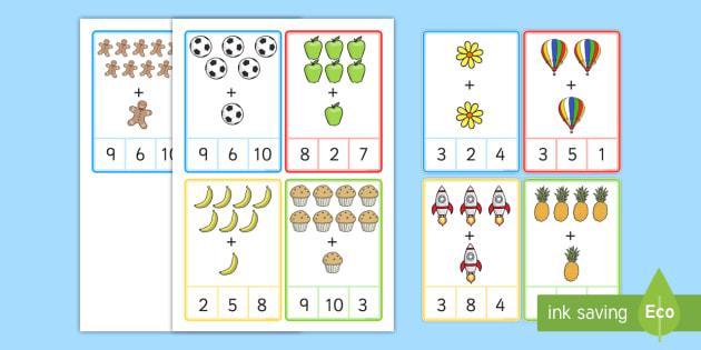 Plus 1 Peg Cards to 10 Images - plus 1, peg, cards, 10, images