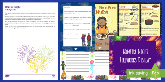 Editable Bonfire Night Party Invitation  Resource Pack - EYFS, Early Years, Key Stage 1, KS1, topic starter, topic introduction, Wow activities, lesson obser