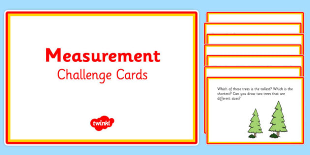 Challenge Cards Measurement Year 1 - challenge cards, measurement, year 1, challenge, cards