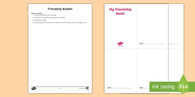 Friendship Activity Booklet - friendship, graduation, sixth class, end of year, friends,Irish