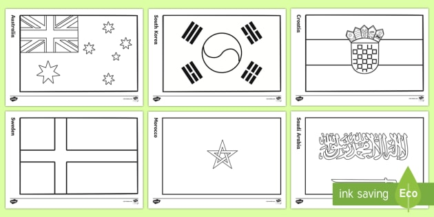 FREE! - The World Cup 2018 Country Flags Coloring Sheets - Sports