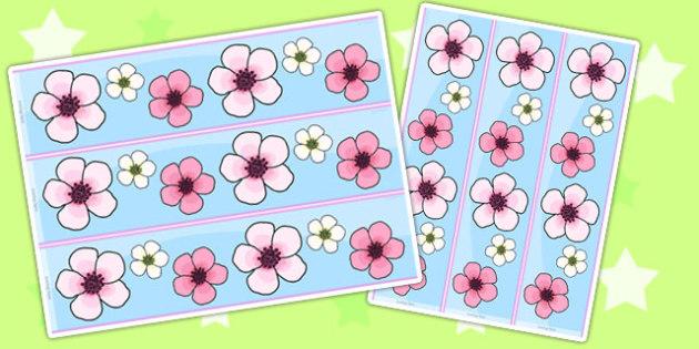 Blossom Display Borders - blossom, spring, seasons, borders