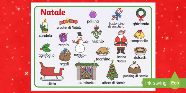 natale vocabolario illustrato