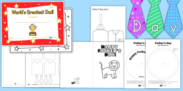 Fathers Day Resource Pack for Childminders - father, child minder